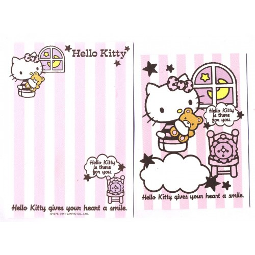 Ano 2011. Conjunto de Mini-Papel de carta Hello Kitty CRS2 Sanrio