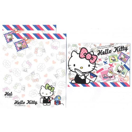 Ano 2014. Conjunto de Mini-Papel de carta Hello Kitty Seal1 Sanrio