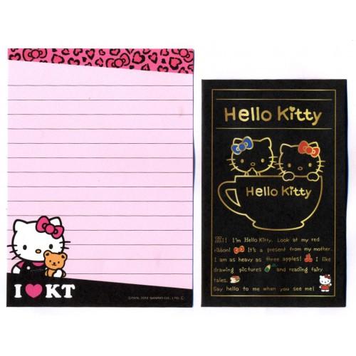 Ano 2012. Kit 2 Conjuntos de Mini-Papel de carta Hello Kitty Cup Sanrio