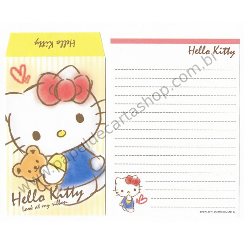 Ano 2015. Conjunto de Mini-Papel de carta Hello Kitty CLA1 Sanrio