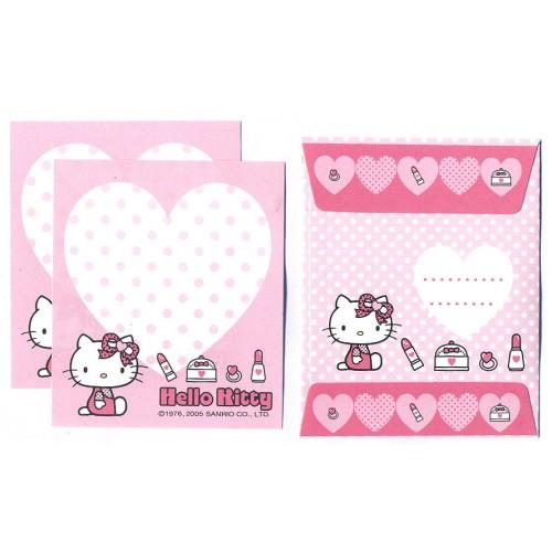 Ano 2005. Conjunto de Mini-Papel de Carta Hello Kitty MKUP Sanrio