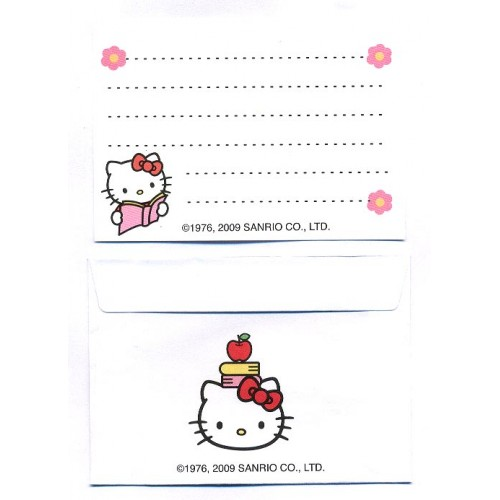 Ano 2009. Conjunto de Mini-Papel de Carta Hello Kitty CVD2 Sanrio
