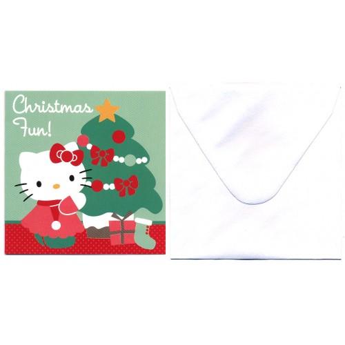 Ano 2013. Notecard Christmas Hello Kitty FUN Sanrio