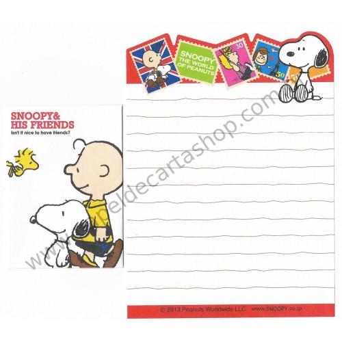 Kit 2 Conjuntos de Mini-Papel de Carta World of Peanuts