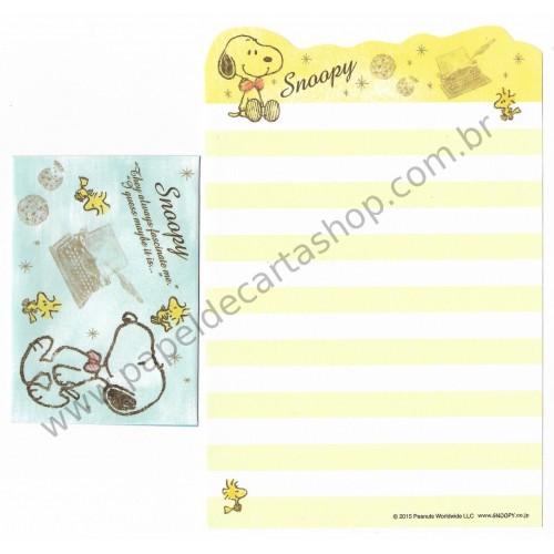 Kit 2 Conjuntos de Mini-Papel de Carta Snoopy CAM Peanuts