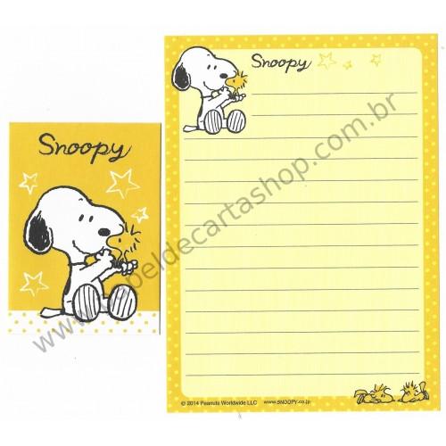 Conjunto de Mini-Papel de Carta SNOOPY NICE CAM Peanuts