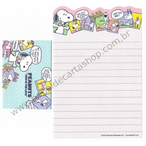 Kit 2 Conjuntos de Mini-Papel de Carta SNOOPY Life Peanuts