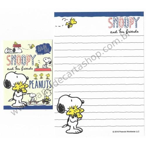 Kit 2 Conjuntos Mini-Papel de Carta SNOOPY & Woodstock Peanuts