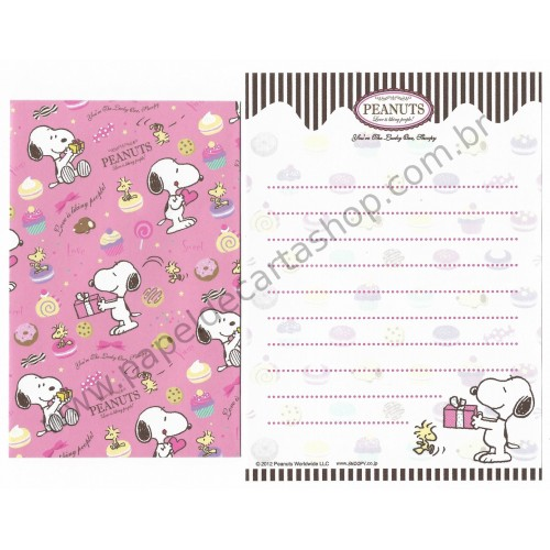 Kit 2 Conjuntos de Mini-Papel de Carta SNOOPY Cupcakes II Peanuts