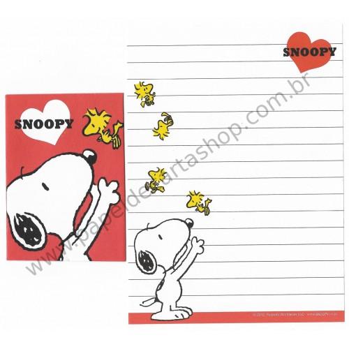 Kit 2 Conjuntos de Mini-Papel de Carta SNOOPY LOVE Peanuts