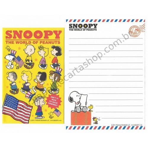 Conjunto de Mini-Papel de Carta SNOOPY Mail II Peanuts