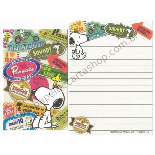 Conjunto de Mini-Papel de Carta SNOOPY Seals CBR Peanuts