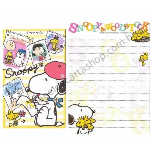 Kit 2 Conjuntos de Mini-Papel de Carta SNOOPY & friends II Peanuts