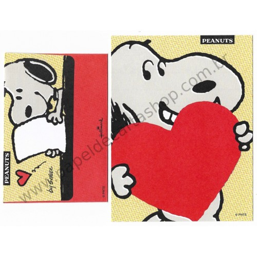 Conjunto de Mini Papel de Carta Snoopy and Love Letter