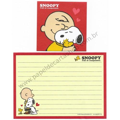 Conjunto de Papel de Carta Pequeno Snoopy Full Of Compassion Peanuts