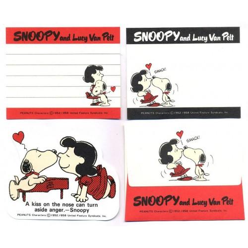 Conjunto de Mini-Papel de Carta Snoopy & Lucy Van Pelt CVM Peanuts