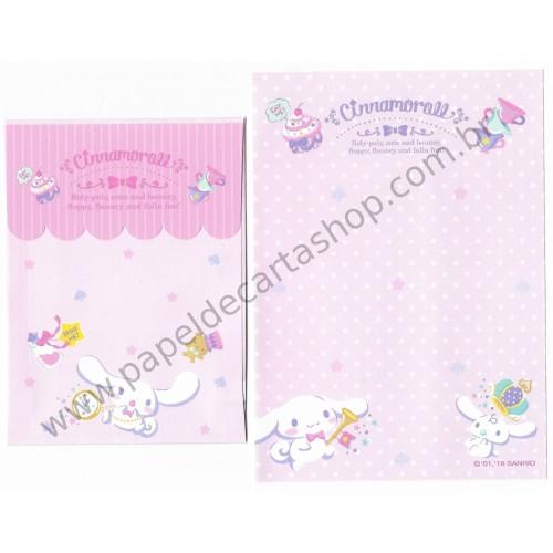 Ano 2018. Kit 3 Conjuntos de Papel de Carta Cinnamoroll Sanrio