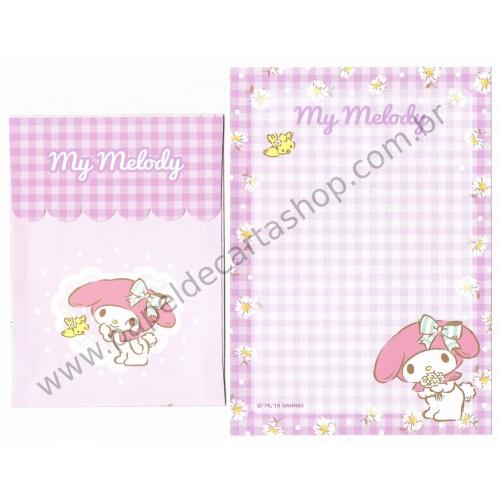 Ano 2018. Kit 3 Conjuntos de Papel de Carta My Melody Sanrio