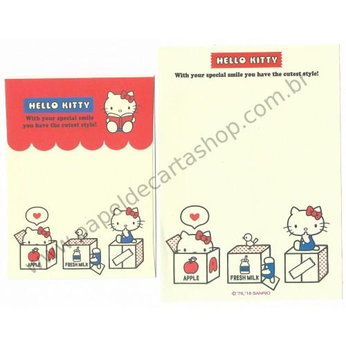 Ano 2018. Kit 3 Conjuntos de Papel de Carta Hello Kitty Sanrio