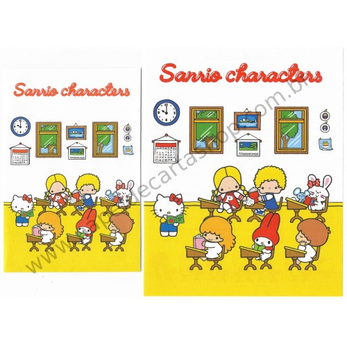 Ano 2018. Conjunto de Papel de Carta Hello Kitty & Sanrio Characters
