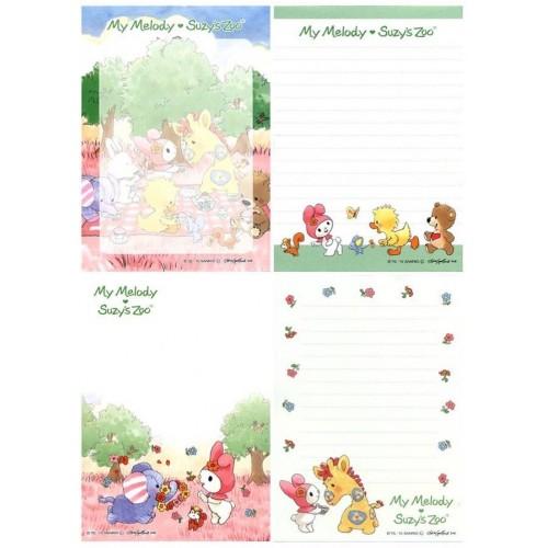 Ano 2015. Kit 4 Notas My Melody & Suzi's Zoo I Sanrio