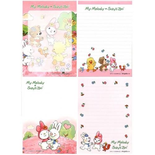 Ano 2015. Kit 4 Notas My Melody & Suzi's Zoo II Sanrio