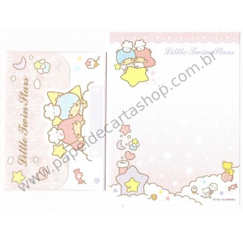 Ano 2013. Conjunto de MINI-Papel de Carta Little Twin Stars Sanrio