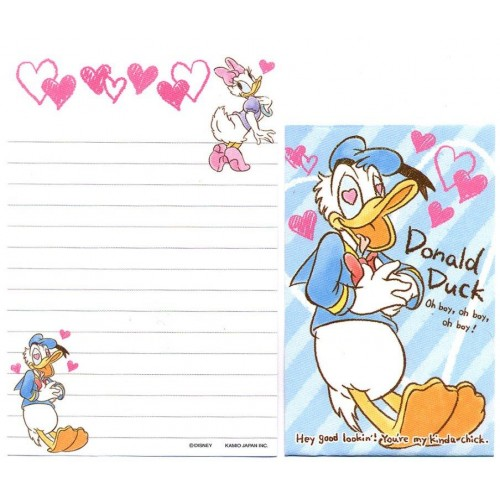 Kit 2 Conjuntos de Mini-Papel de Carta Donald & Daisy Duck Disney