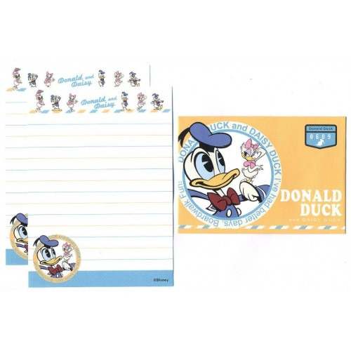 Conjunto de Mini-Papel de Carta Donald & Daisy Duck 0609 Disney
