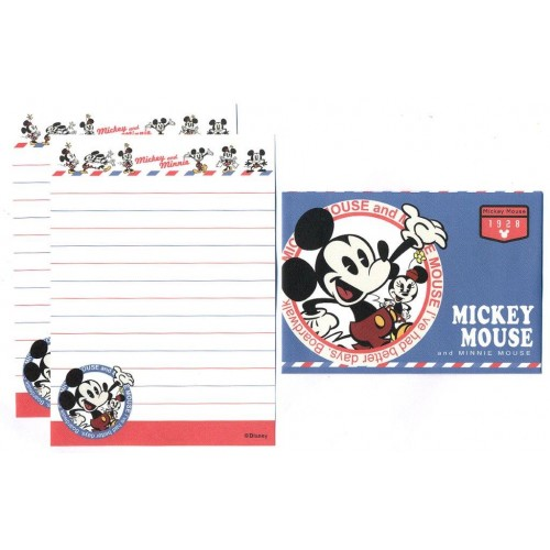 Conjunto de Mini-Papel de Carta Mickey & Minnie Mouse 19281 Disney