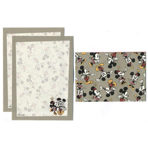 Conjunto de Mini-Papel de Carta Mickey & Minnie Mouse 19282 Disney