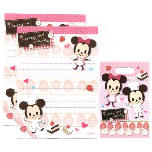 Conjunto de Mini-Papel de Carta Mickey & Minnie Disney