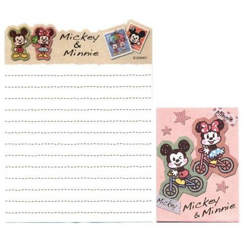Kit 2 Conjuntos de Mini-Papel de Carta Mickey & Minnie N1 Disney