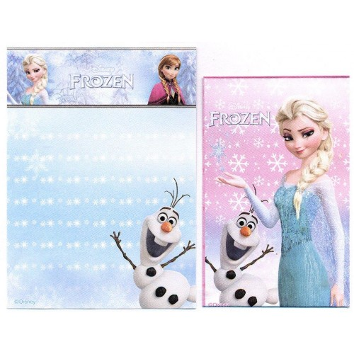 Kit 2 Conjuntos de Papel de Carta Pequeno Frozen Elsa Disney
