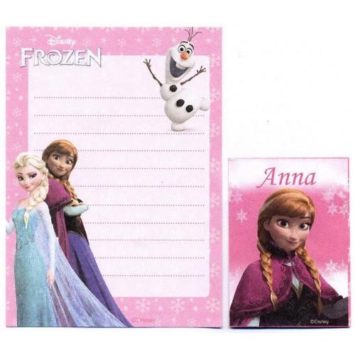 Kit 2 Conjuntos de Papel de Carta Pequeno Frozen Anna Disney