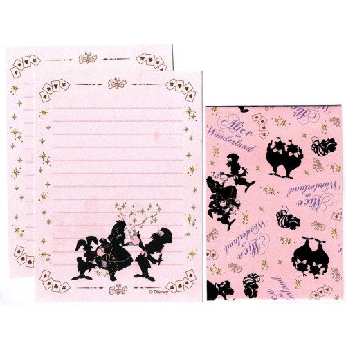 Conjunto de Mini Papel de Carta Alice in Wonderland - Curious II
