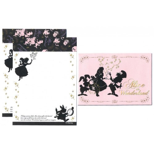 Conjunto de Mini Papel de Carta Alice in Wonderland - Curious