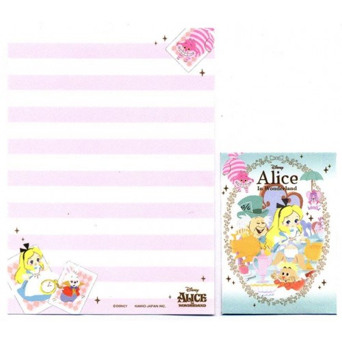 Kit 2 Conjuntos de Mini-Papel de Carta Disney Alice in Wonderland