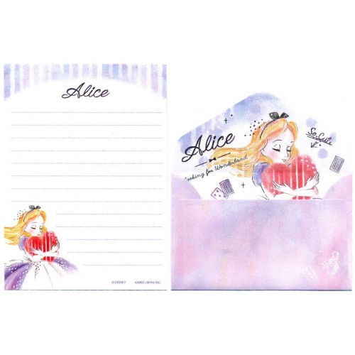 Conjunto de Mini-Papel de Carta Disney Alice Looking for Wonderland Kamio
