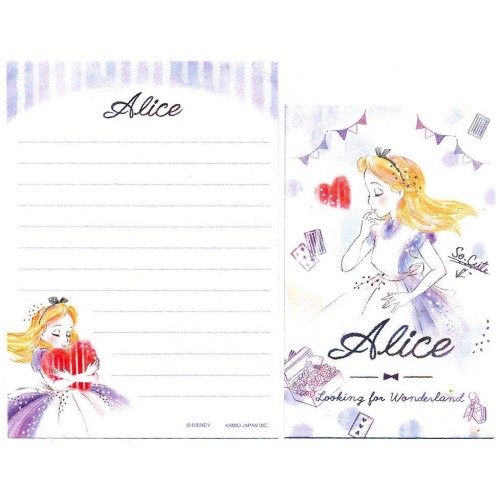 Conjunto de Mini-Papel de Carta Disney Alice Looking for Wonderland II