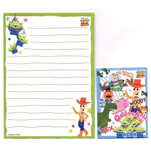 Kit 2 Conjuntos de Mini-Papel de Carta Toy Story ALIEN Pixar Disney