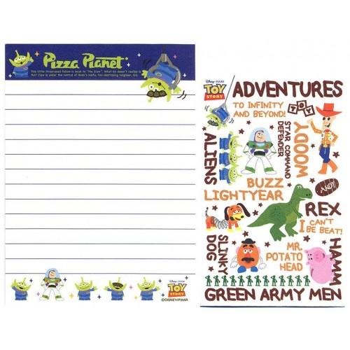 Kit 2 Conjuntos de Mini-Papel de Carta Toy Story Pizza Planet Pixar Disney