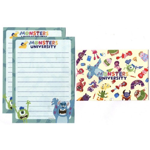 Conjunto de Mini Papel de Carta Pixar Monsters University