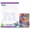 Kit 2 Conjuntos de Mini-Papel de Carta Monsters University Campus Pixar Disney