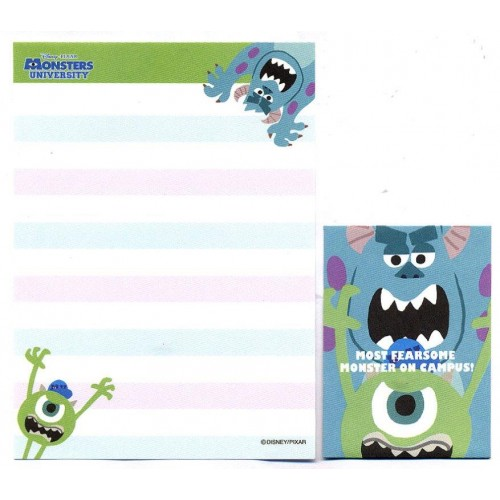 Kit 2 Conjuntos de Mini-Papel de Carta Monsters University Campus II Pixar Disney
