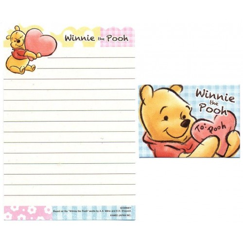 Conjunto de Mini Papel de Carta Disney Winnie the Pooh