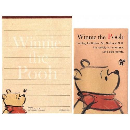 Conjunto de Mini Papel de Carta Disney Winnie the Pooh DUPLA