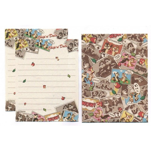 Conjunto de Mini Papel de Carta Disney Chip'n'Dale