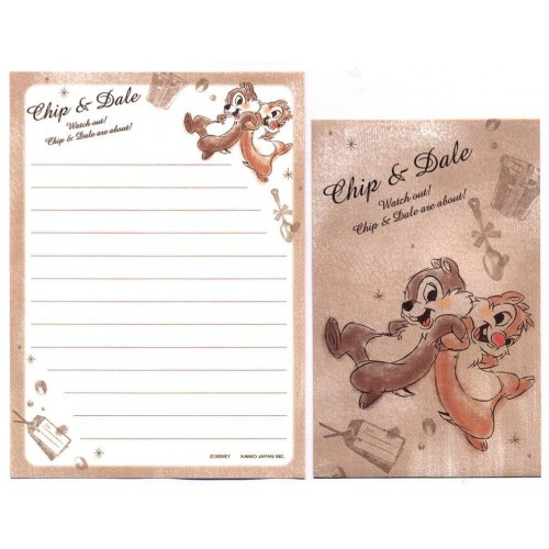 Conjunto de Mini Papel de Carta Disney Chip & Dale CMA