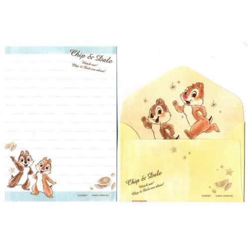 Conjunto de Mini Papel de Carta Disney Chip & Dale 2